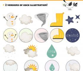 Weather Pack Clipart 1 / 9 illustrations
